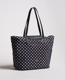 Polka dot foldable shopper bag White / Black Polka Dot Print Woman 191MA7120-03