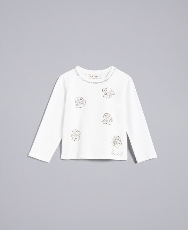 Jersey t-shirt with rhinestones Off White Child FA82SP-01