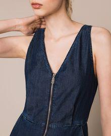 Denim jumpsuit with zip Denim Blue Woman 201MT2196-05