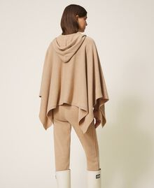 """Wool and cashmere poncho """"Pastel Skin"""" Beige Woman 202TT3013-06"""