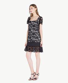Kleid mit Spitze Schwarz Frau TS828P-02