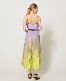 """Pleated dress with fadeout print """"Sweet Lilac"""" Purple Fadeout Multicolour Woman 211LL2MLL-03"""