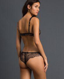 Laminated lace Brazilian briefs Bronze Woman 192LL6H77-03