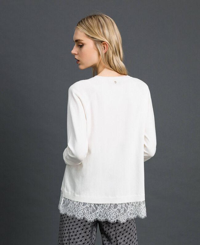 Top with lace Black Woman 192TP3161-03
