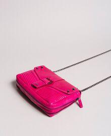 Sac à bandoulière Rebel en cuir Fuchsia Femme 191TO7233-01