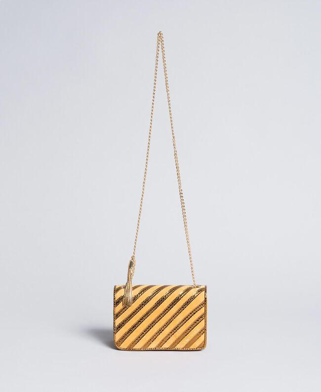 Mini sac à bandoulière en cuir velours Ocre Foncé Femme OA8TD2-01
