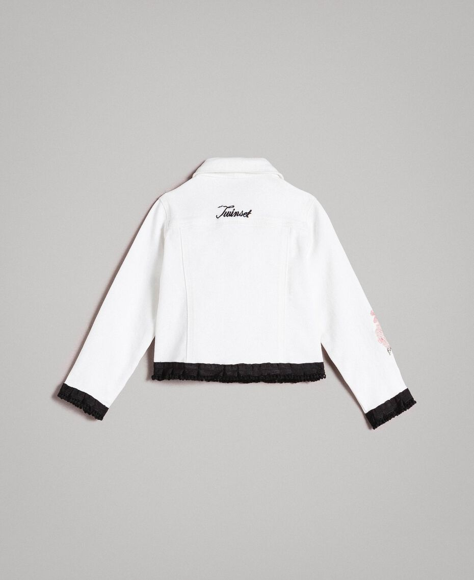 Bull stretch jacket with embroidery Off White Child 191GB2581-0S