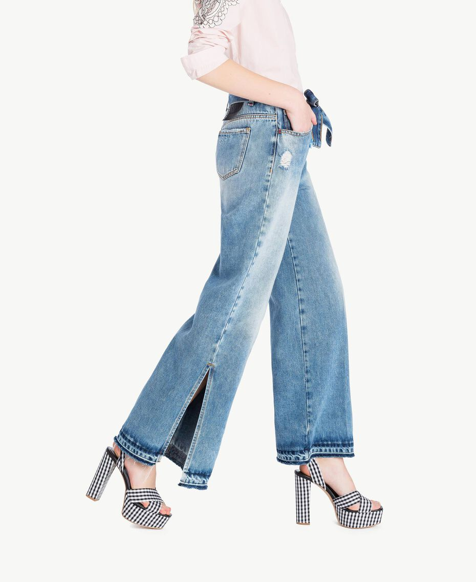 Wide leg jeans Denim Blue Woman JS82WZ-02