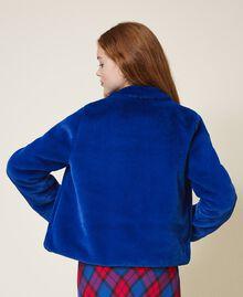 Куртка из искусственного меха Темно-васильковый Pебенок 202GJ281A-04