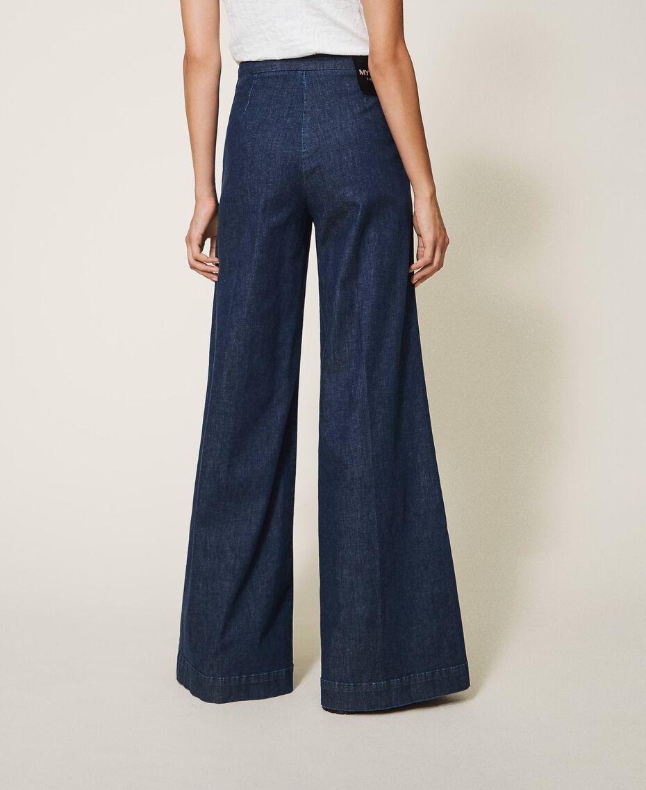 Свободные прямые джинсы с карманами Тёмный Деним женщина 202MP222C-03