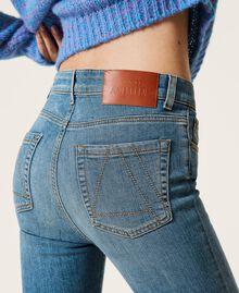 """Jeans flare 'Malachite' Blu """"Denim Medio"""" Donna 212AP2212-05"""