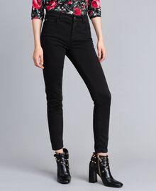 Stretch gabardine skinny trousers Black Woman JA82W1-02