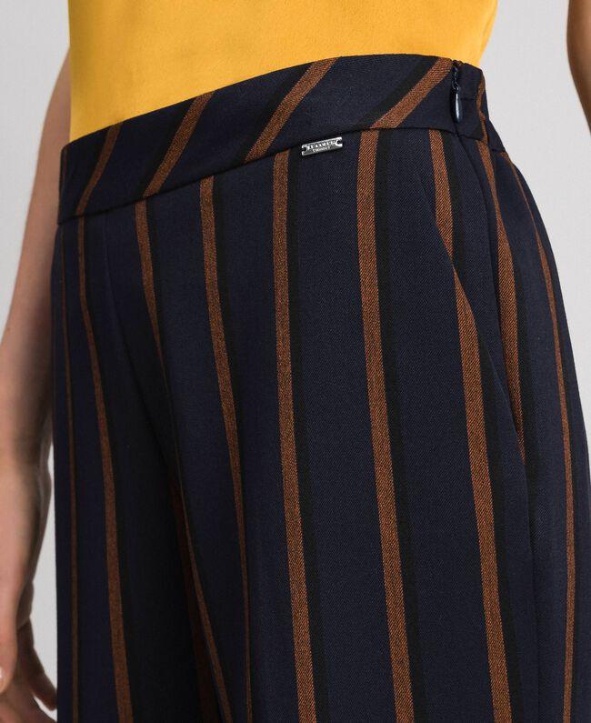 Pantaloni gessati a sigaretta Rigato Blu Notte / Terra Rossa Donna 192ST2232-04