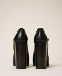 """Escarpins à plateforme en cuir Beige """"Nude"""" Femme 202TCP150-03"""