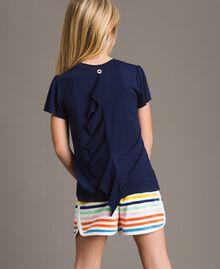 T-shirt en viscose avec imprimé et strass Indigo Enfant 191GJ2450-03