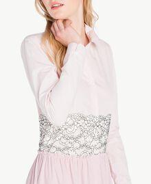 Long patchwork dress Quartz Pink Woman JS82D7-05