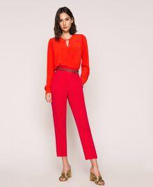 Silk blend blouse bodysuit White Snow Woman 201TP2504-0T