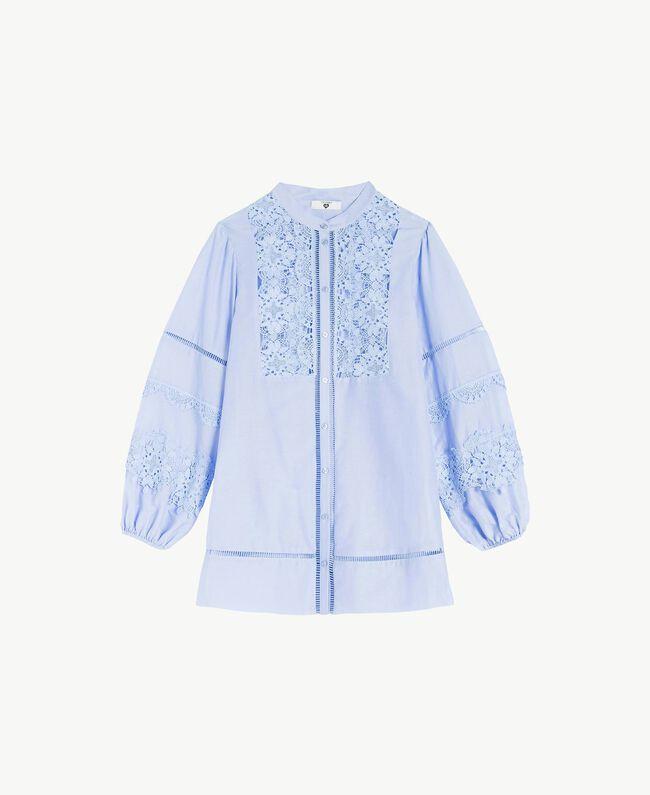 "Hemd mit Spitze ""Blue Spume""-Azur Frau BS8FAA-01"