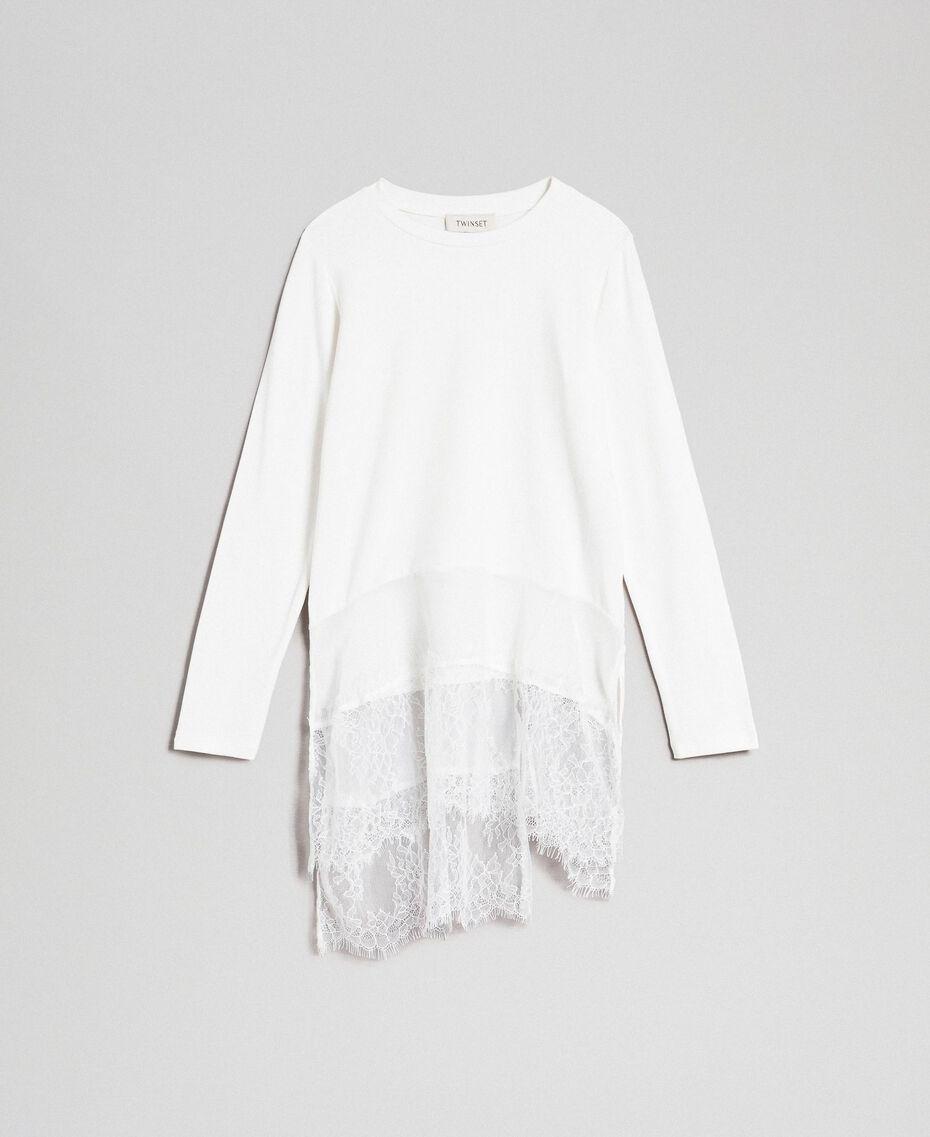 Maxishirt mit Details aus Georgette und Spitze Chantily Kind 192GJ2468-0S