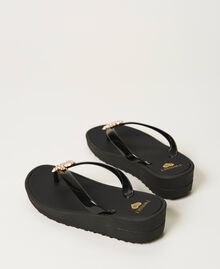 """Thong sandals with jewel detail """"Sky"""" Blue Woman 211LMPZPP-04"""