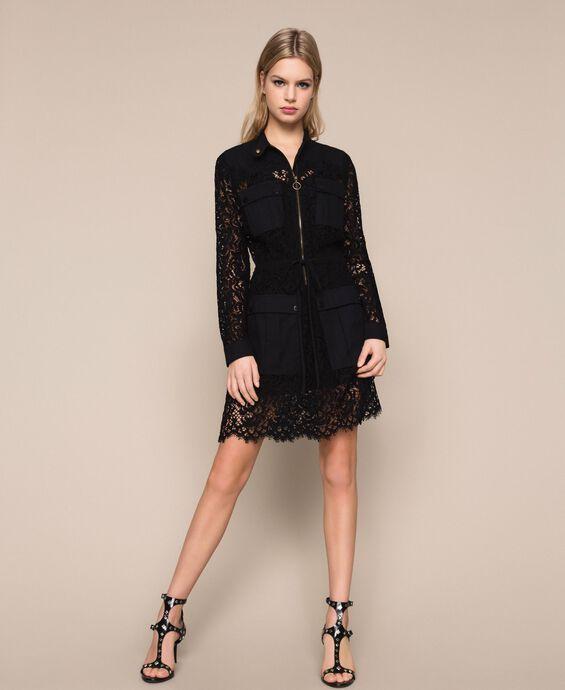 Macramé lace dress