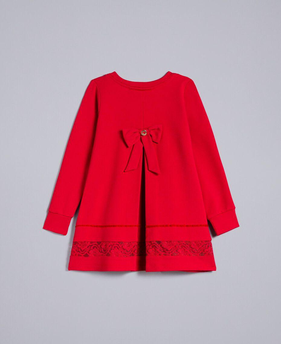 Блуза из хлопка с кружевом Красный Мак Pебенок FA821W-0S
