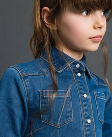 Denim effect shirt dress Mid Denim Child 192GJ2510-04