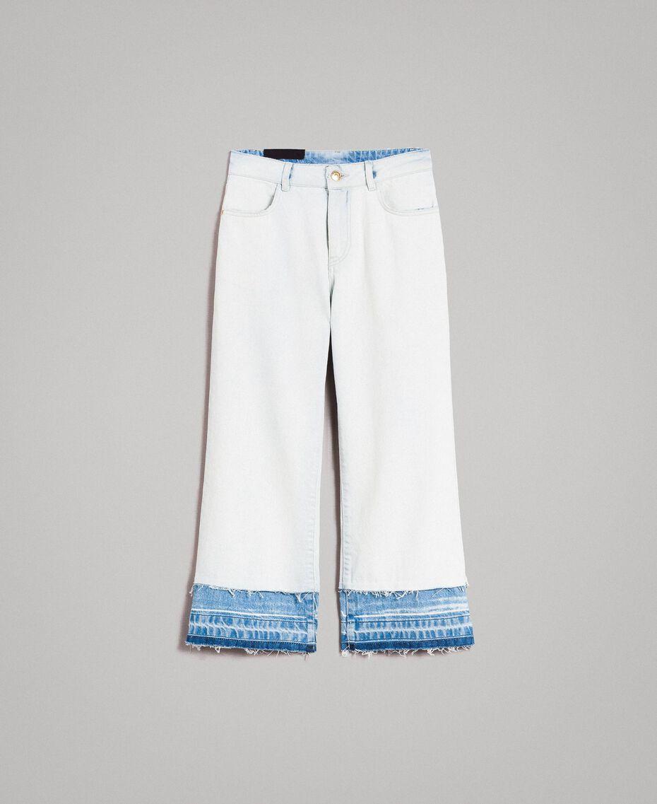 Cotton denim wide leg jeans Denim Blue Woman 191MT2432-0S