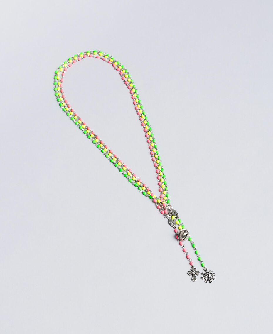 Ensemble de colliers de style rosaire Nickel Usé Femme QA8TLN-02