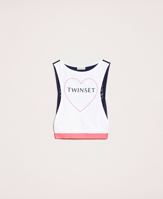 Tank top with heart and logo