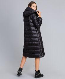 Long nylon padded jacket Black Woman YA82AB-03