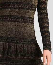 Lurex knit dress with flounces Black Striped / Lurex Woman 192TT3221-04