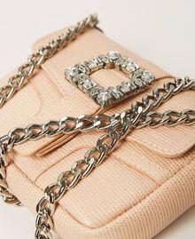 "Small Rebel shoulder bag with jewel buckle ""Nude"" Beige Woman 202TB7140-05"