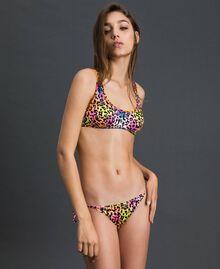 Bikini 'Elettra x Twinset' Fluorescent Orange / Leopard Print Woman 191TQM020-0S