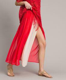 """Jupe longue avec panneaux multicolores Multicolore Rouge """"Framboise"""" / Beige """"Voie lactée"""" / """"Jus d'Orange"""" Femme 191LM2TCC-02"""