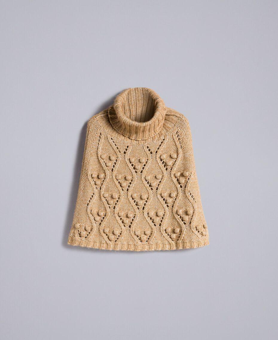 Cappa in maglia mélange Camel Donna PA83LA-0S