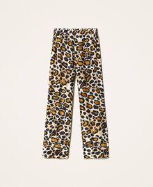 Pantalón de raso estampado Estampado Animal print Mujer 202LL2EFF-0S