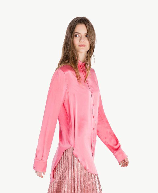 "Silk shirt ""Doll"" Fuchsia Woman PS825D-04"