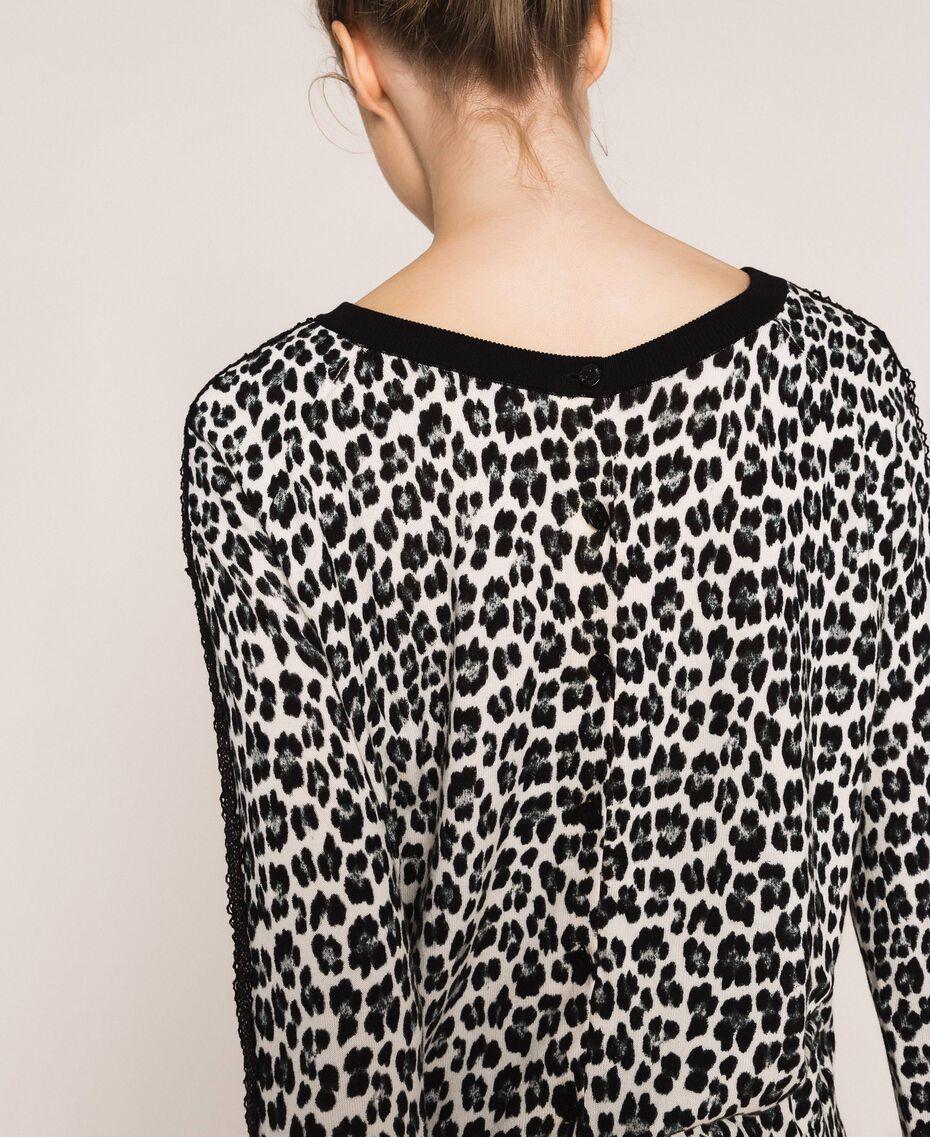Animal print jumper-cardigan Lily Animal Print / Black Woman 201MP306A-06
