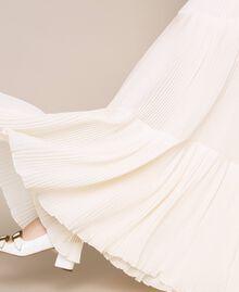 Брюки из плиссированного жоржета Белый Antique White женщина 201TT2094-01