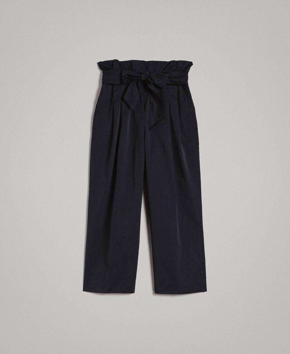 Pantalon en taffetas Noir Femme 191TP2654-0S