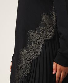 Pleats and lace dress Black Child 202GJ215A-05