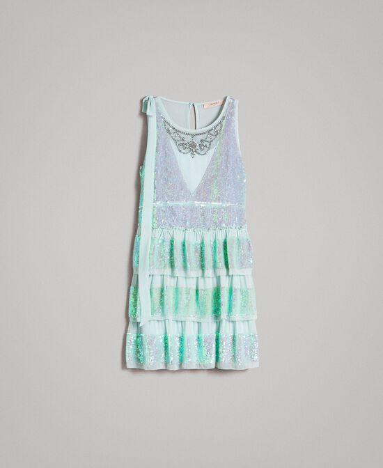 Georgette-Kleid mit Pailletten