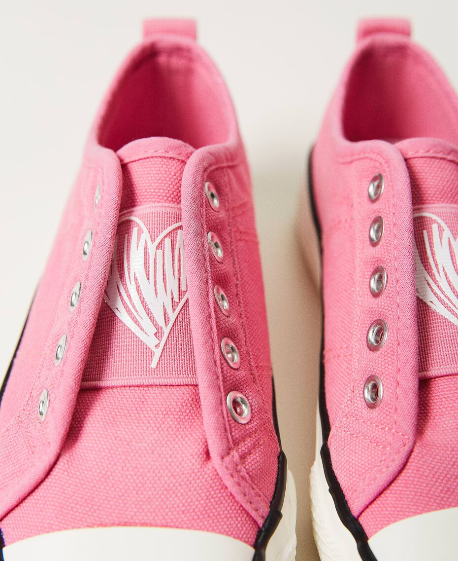 """Canvas trainers with logo """"Rose Bloom"""" Pink Child 211GCJ070-02"""