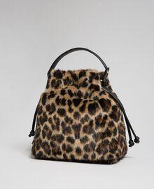 Borsa secchiello in similpelliccia animalier Animalier Donna 192MA7031-04