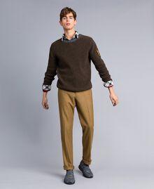 Pull en laine mélangée Vert Alpin Homme UA83DA-0T