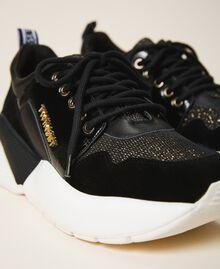 Chaussures de running avec logo Noir Femme 202TCP036-03