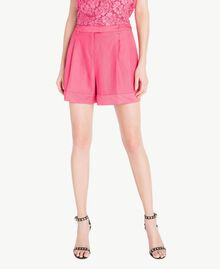 Shorts aus Envers-Satin Provocateur Pink Frau TS823B-01