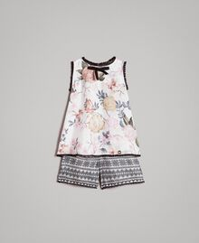 Floral top and shorts with lace print Ramage Butterfly Print Child 191GB2521-01