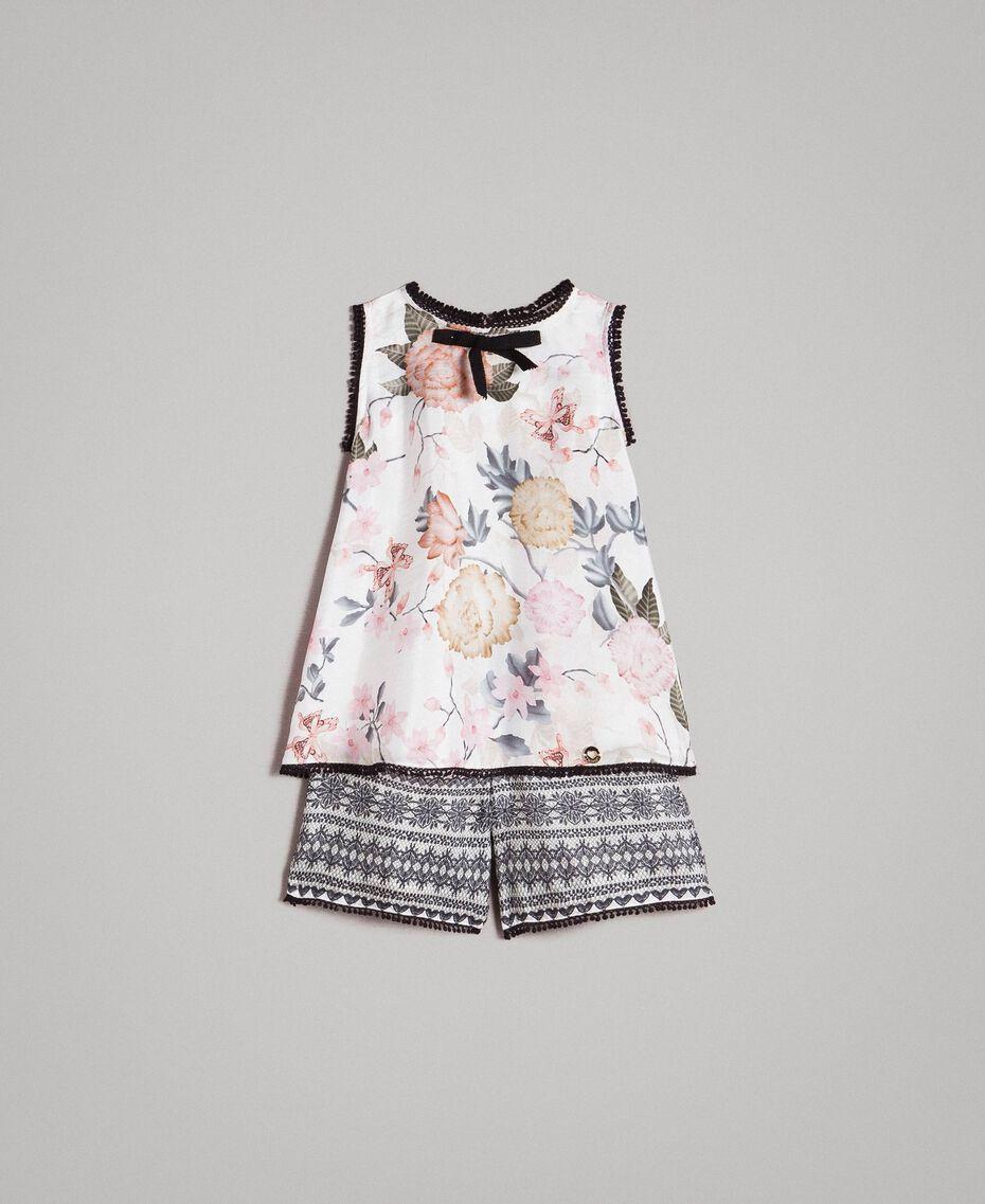 Top floral y pantalones cortos con estampado de encaje Estampado Mariposas Ramage Niño 191GB2521-01